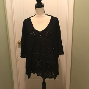 Oversize Free People Lace Flowy Top